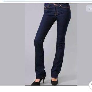 J BRAND MID RISE STRAIGHT LEG OYS 805 dark jeans